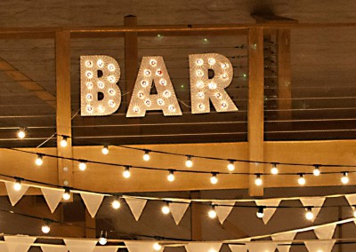 Wedding Barn Bar Sign
