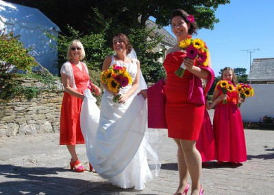 Wedding Money Holding Dress