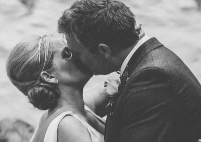 Wedding Toast Kiss